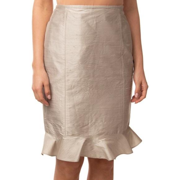 Armani Collezioni Dresses & Skirts - Armani Collezioni Pewter Metallic Trumpet Skirt